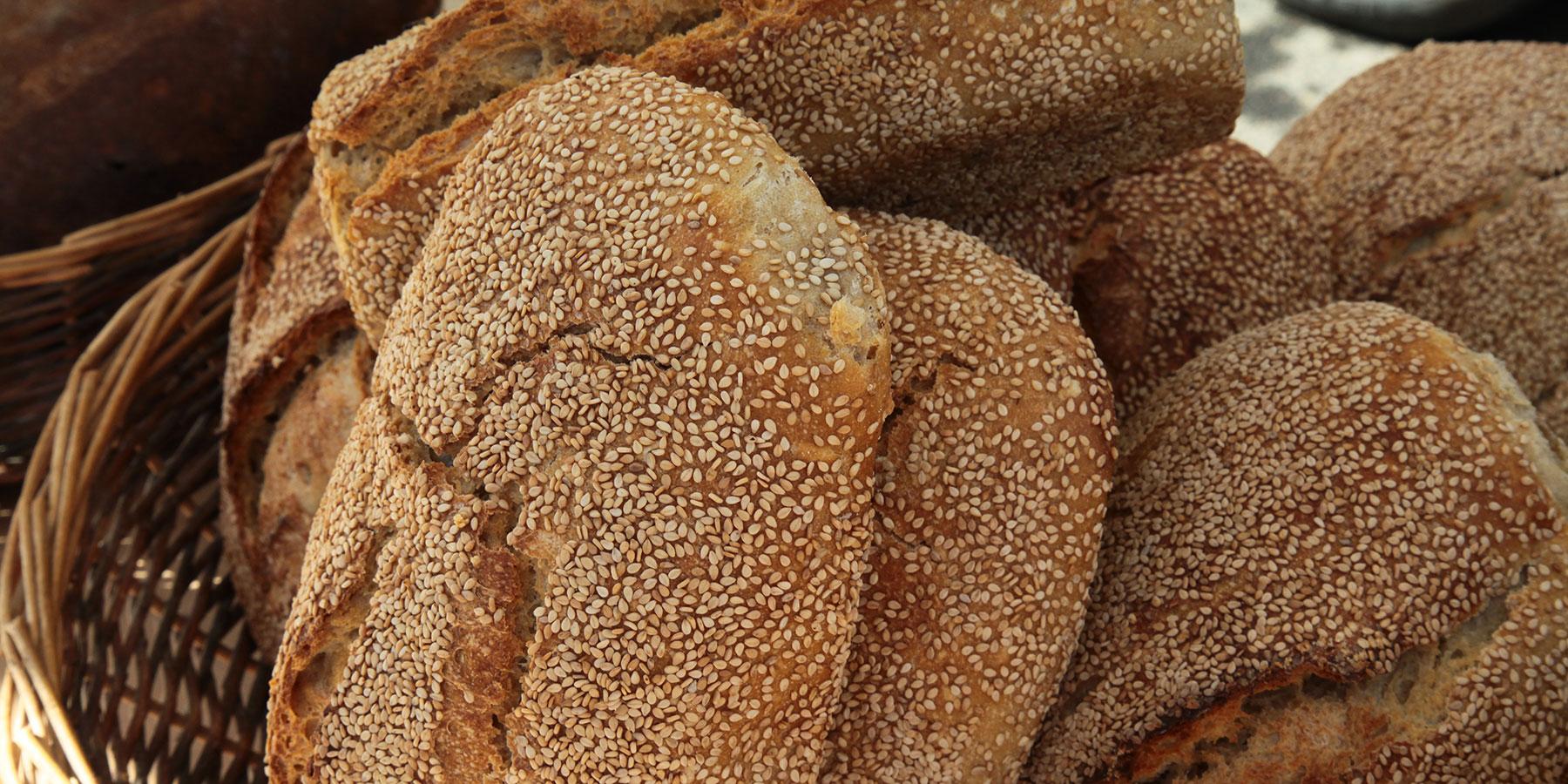 Pain produit avec les céréales cultivés sur le Vercors Drôme